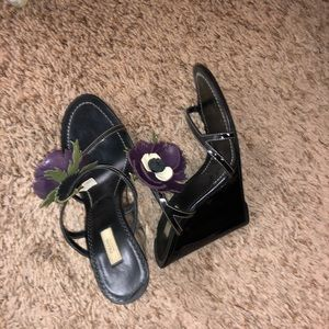Prada Wedge Sandals sz 37 1/2